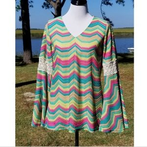 Judith March bell sleeve blouse